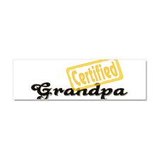 Certified Grandpa Car Magnet 10 x 3
