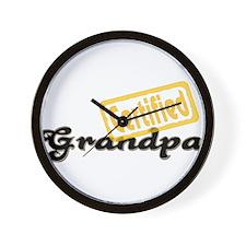 Certified Grandpa Wall Clock