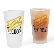 Certified RedNeck Drinking Glass