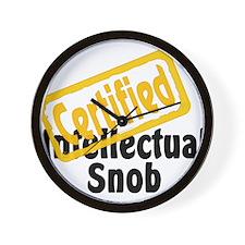 Intellectual Snob Wall Clock