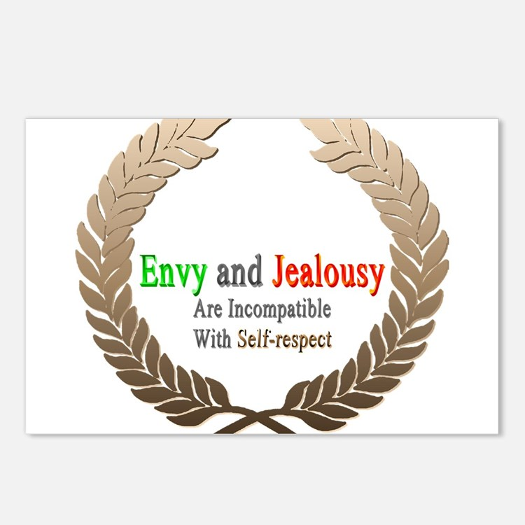 Envy and Jealousy Postcards (Package of 8)