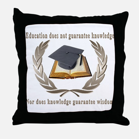 Education,Knowledge,Wisdom Throw Pillow