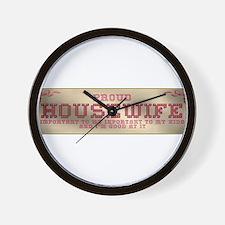 Proud Housewife Wall Clock