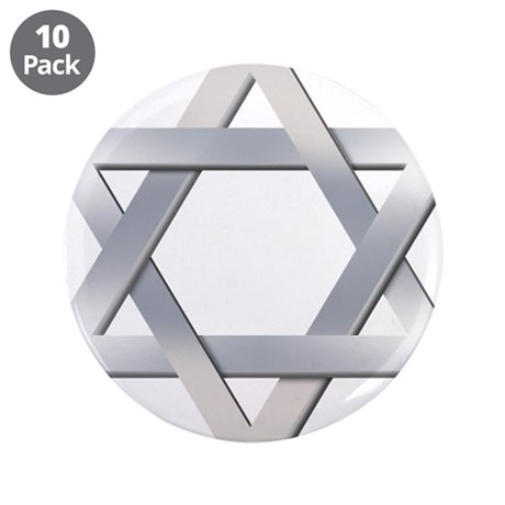 "Star of David 3.5"" Button (10 pack)"