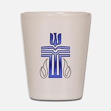 Presbyterian Cross Shot Glass