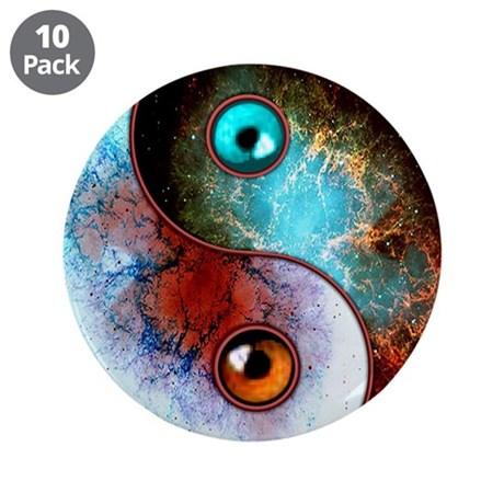 """Cosmic Tao 3.5"""" Button (10 pack)"""