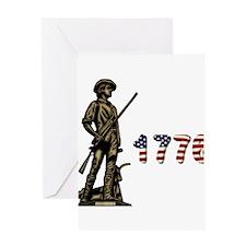 1776 Minuteman Greeting Card