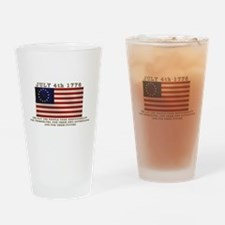 July 4th Flag Drinking Glass