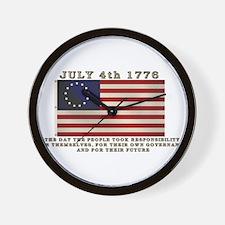 July 4th Flag Wall Clock