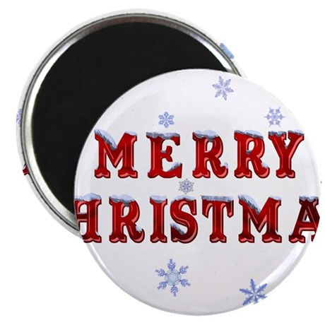"""Merry Christmas 2.25"""" Magnet (100 pack)"""