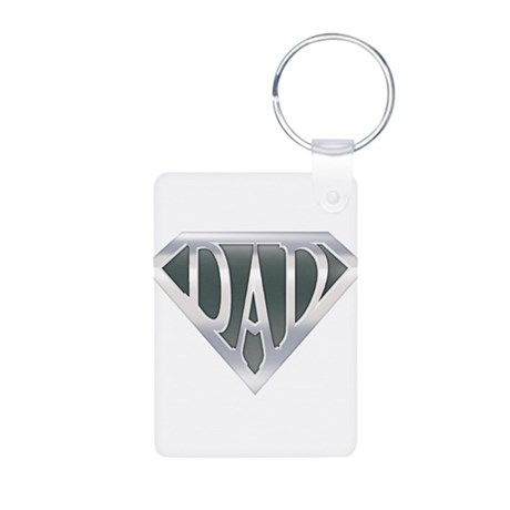 Super Dad Aluminum Photo Keychain