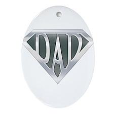 Super Dad Ornament (Oval)