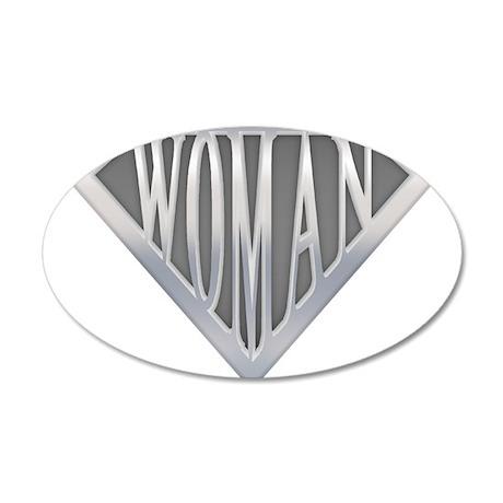 Super Woman 22x14 Oval Wall Peel