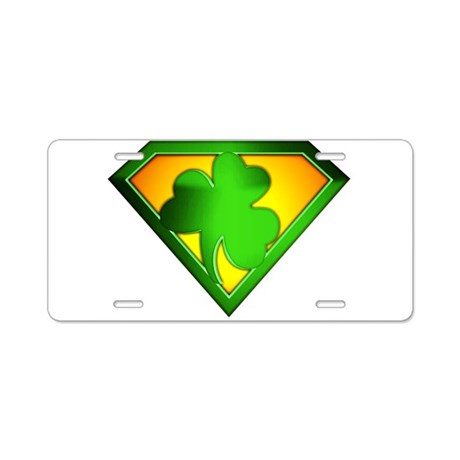 Super Shamrock Aluminum License Plate
