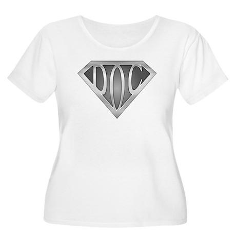 SuperDoc Women's Plus Size Scoop Neck T-Shirt