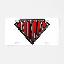 Super Ninja(Black) Aluminum License Plate