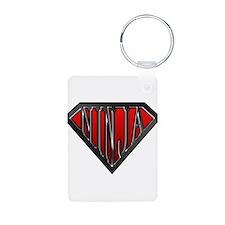 Super Ninja(Black) Aluminum Photo Keychain