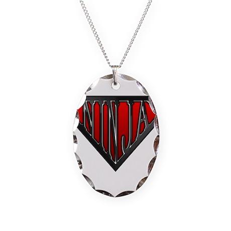 Super Ninja(Black) Necklace Oval Charm