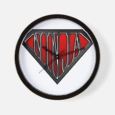 Super Ninja(Black) Wall Clock