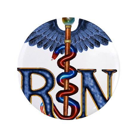 """RN Caduceus 3.5"""" Button (100 pack)"""