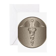 MD Caduceus Greeting Card