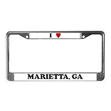 I Love Marietta License Plate Frame