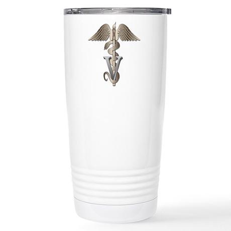 Veterinary Caduceus Stainless Steel Travel Mug