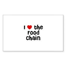 I * the Food Chain Rectangle Decal