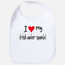 I LOVE MY Irish Water Spaniel Bib