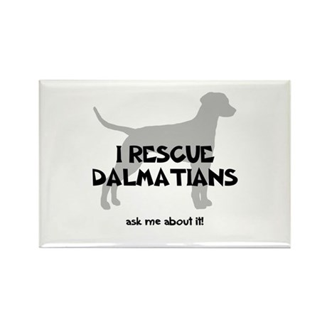 I RESCUE Dalmatians Rectangle Magnet