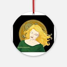 Grania and the Celtic spiral sun #1 Ornament (Roun