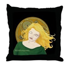 Grania and the Celtic spiral sun #1 Throw Pillow