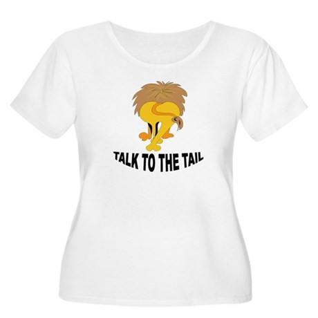 Talk To The Tail Lion Women's Plus Size Scoop Neck