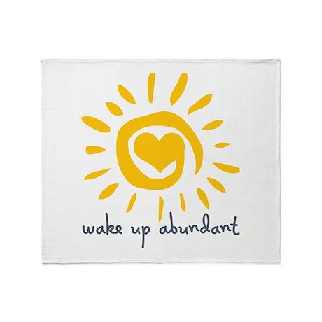 Wake Up Abundant Throw Blanket