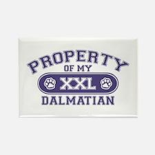Dalmatian PROPERTY Rectangle Magnet