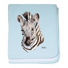 Zeebe Zebra baby blanket