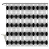 Black white diamonds Shower Curtains