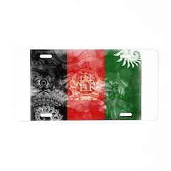 Afghanistan Flag Aluminum License Plate