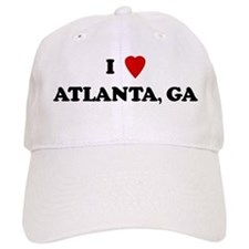 I Love Atlanta Baseball Cap
