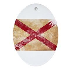 Alabama Flag Ornament (Oval)