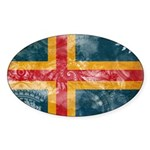 Aland Flag Sticker (Oval 10 pk)