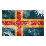 Aland Flag Sticker (Rectangle)