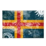 Aland Flag Postcards (Package of 8)