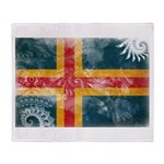 Aland Flag Throw Blanket