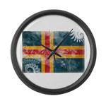 Aland Flag Large Wall Clock