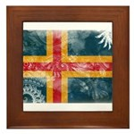 Aland Flag Framed Tile