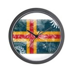 Aland Flag Wall Clock