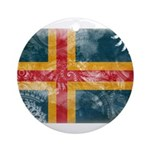 Aland Flag Ornament (Round)
