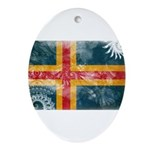 Aland Flag Ornament (Oval)