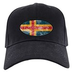 Aland Flag Black Cap